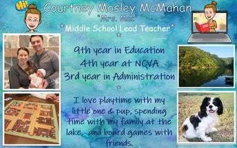 Courtney Mosley McMahan (Mrs. Mac)
