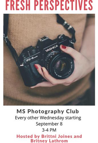 Photogaphy Club - Middle School