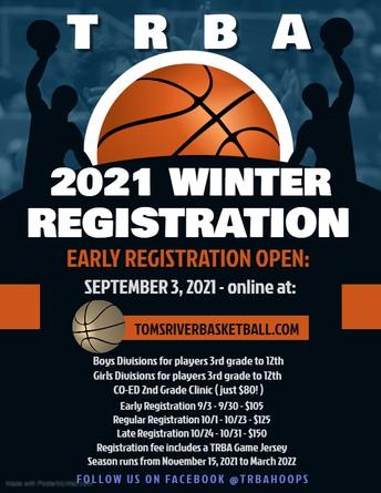 Toms River Basketball Association Flyer
