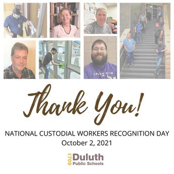 Thank You, Duluth Public Schools Facilities Staff