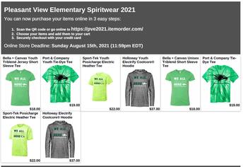 PVE Back-to-School Spirit Wear Sale - Ends on 8/15