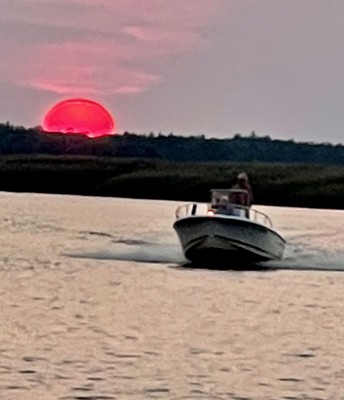 Sun is setting on the Mullica River