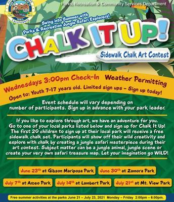Chalk It Up - Sidewalk Chalk Art Contest
