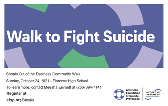 Walk To Fight Suicide: Sunday, October 24th