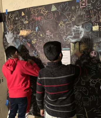Middle School Humans Cave Art Project