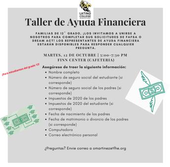 Taller de Ayuda Financiera