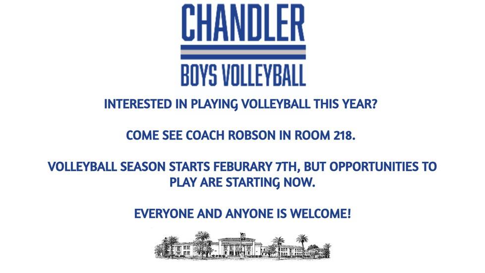 Boys Volleyball Info