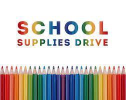 Colecta de útiles escolares Mckinley CARES/    Mckinley CARES School Supply Drive