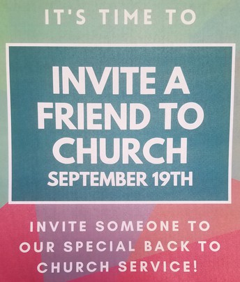 Back to Church - September 19th 10 AM