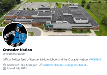 Follow us on twitter & Instagram: @ReutherCrusader