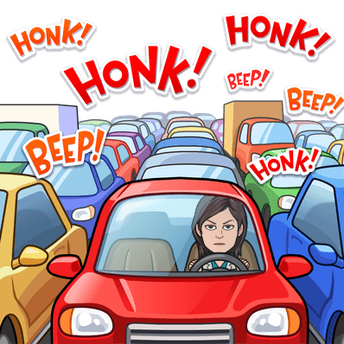 Morning Traffic and Horn Honking