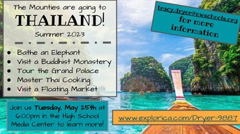 Mountie Travel Club is going to Thailand!!!