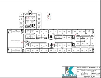 Hildebrandt Intermediate School map of second floor