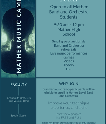 Orchestra and Band Camp - Mather Students