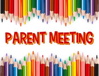 Parent Meeting September 22, 4:00-5:00pm