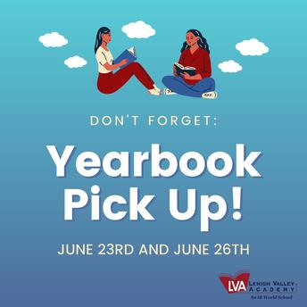 Yearbook Pick Up Schedule: