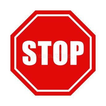 Stop Sign at Armadillo Drive