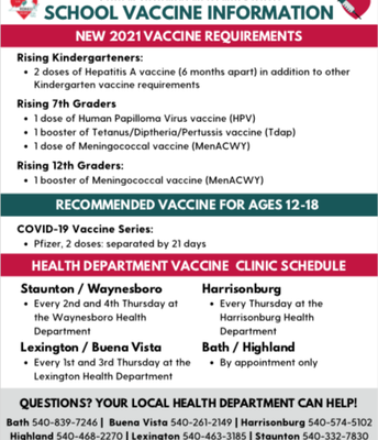 Picture of School Vaccine Info
