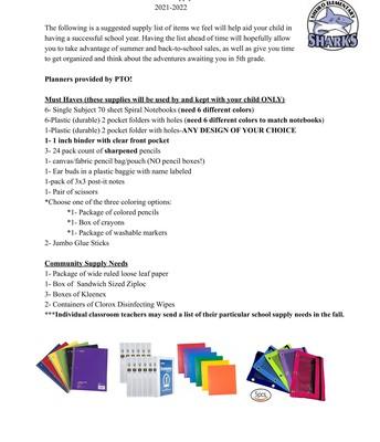 Grade 5 - Supply List