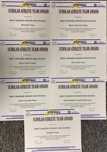Congratulations to Spring Scholar Athlete Teams!
