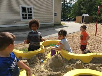 Creating Sand Sculptures Together!