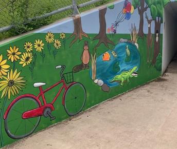 Mural on Westridge Bike Path