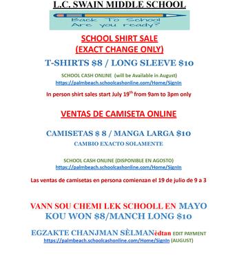 Uniform Sale Information