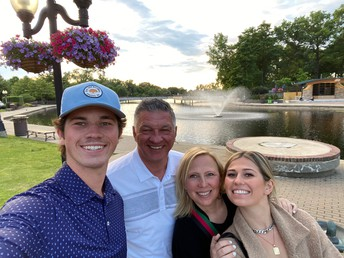 Mrs. Lindsey and her lovely family in Michigan