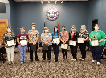 SCSD nurses recognized at Sept. Board meeting