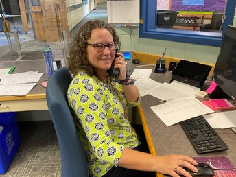 Mrs. Baechle, our Administrative Assistant is the voice of GCS!