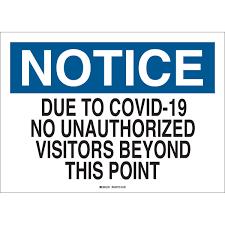 No Visitors on Campus