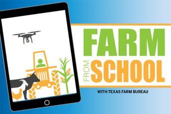 Texas Farm Bureau's Farm From School program for K-3rd-grade classrooms