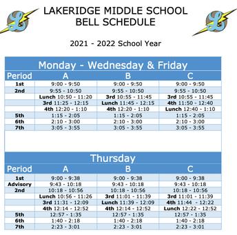Thursday schedule reminder