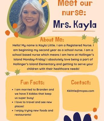 Mrs. Kayla LIttle, Nurse