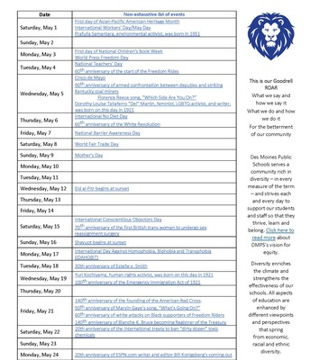 May Calendar Pt. 1