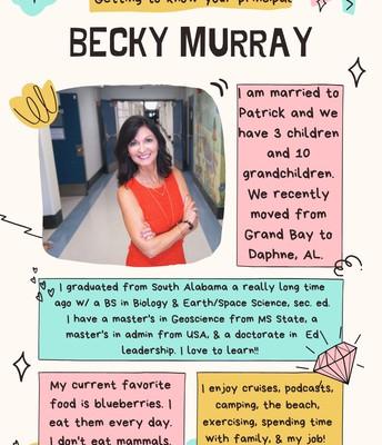 Dr. Becky Murray, Principal