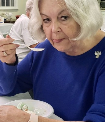 Margie Enjoying the Last Lick!