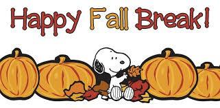 OCTOBER 8-15, 2021 - FALL BREAK!