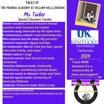 Ms. Tucker, Exceptional Child Educator
