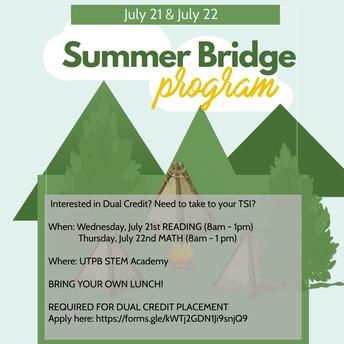 Summer Bridge Registration