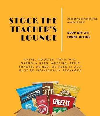 Stock the Teacher's Lounge