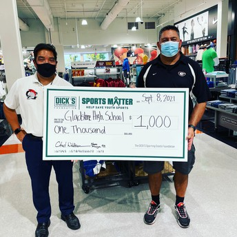 Dick's Sporting Goods Donates to GHS Athletics