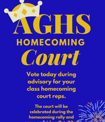 Homecoming court voting takes place today (10/11/21)
