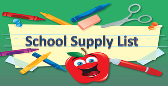 School Supply Lists Available on Website