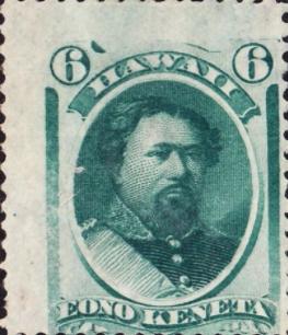 King Lot Kamehameha V. 6¢ stamp