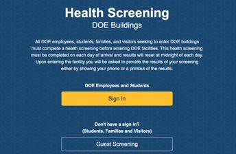 DOE Health Screening