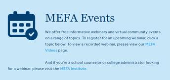 MEFA Webinars