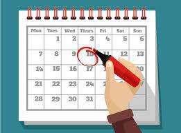 Important School wide Dates-