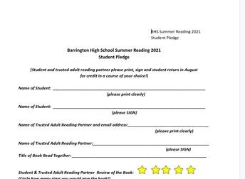 BHS Summer Reading Pledge
