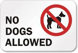 No Dogs Allowed on Campus